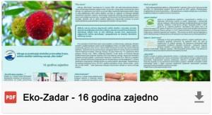 Eko-Zadar - 16 godina zajedno