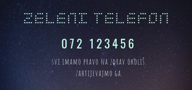 Zeleni telefon 072 123456